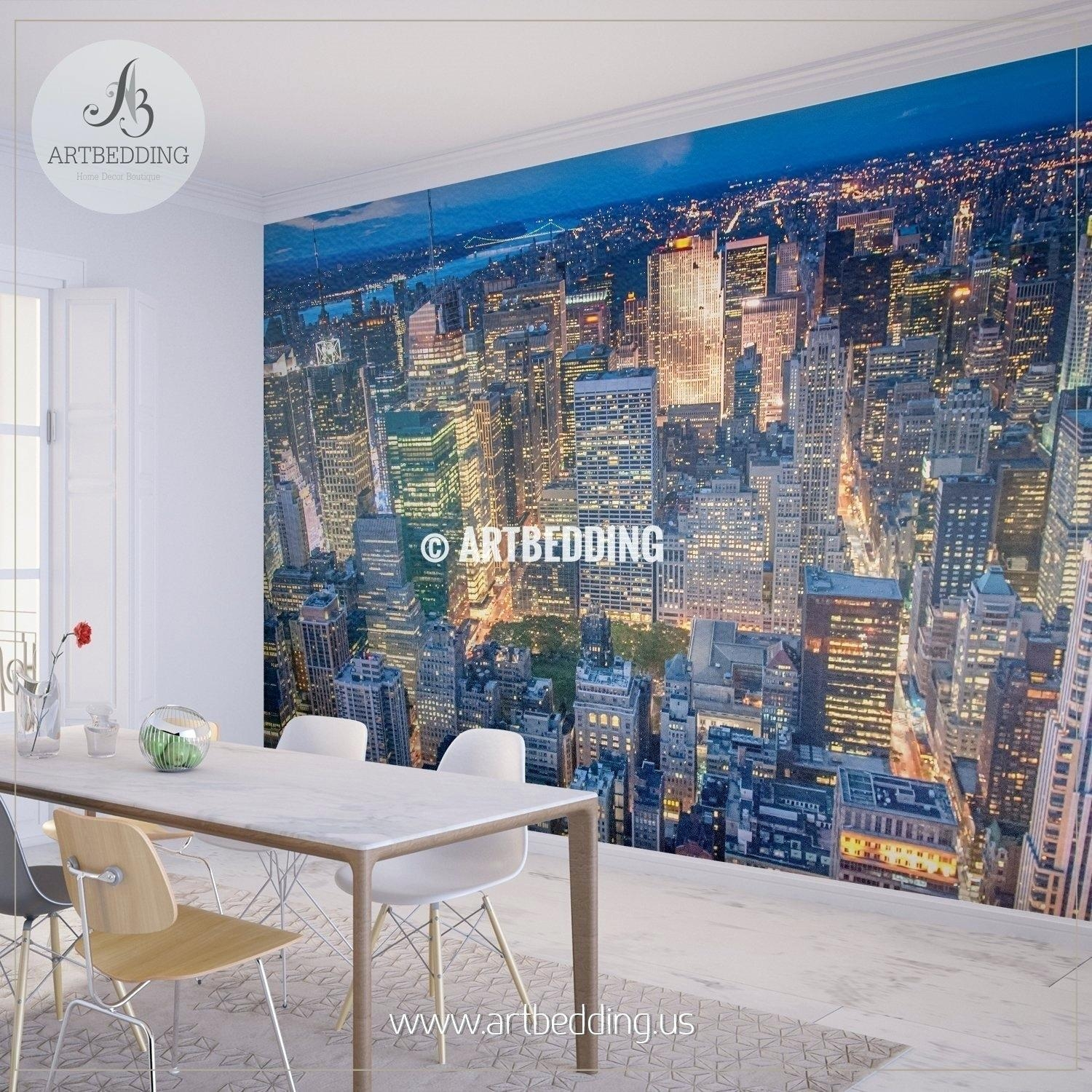 Designart New York City Skyline Panorama 5 Piece Wall: 20 Best Ideas Metal Wall Art New York City Skyline