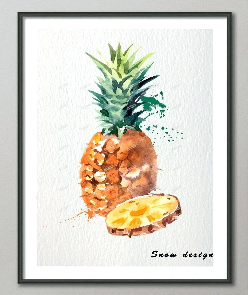 Articles With Large Pineapple Wall Art Tag: Pineapple Wall Art (Image 5 of 20)