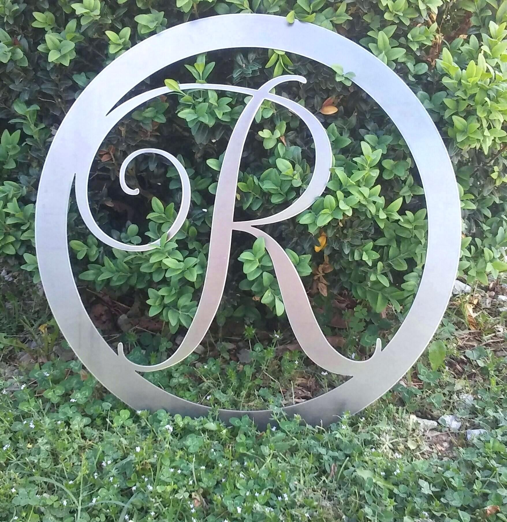Articles With Metal Monogram Letters Wall Art Tag: Monogram Metal With Regard To Monogram Metal Wall Art (View 14 of 20)