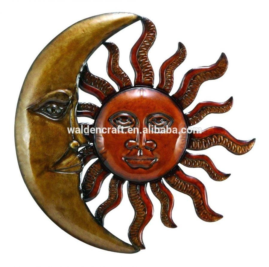 Articles With Metal Sun Moon Wall Art Tag: Metal Moon Wall Art Pertaining To Sun And Moon Metal Wall Art (Image 4 of 20)
