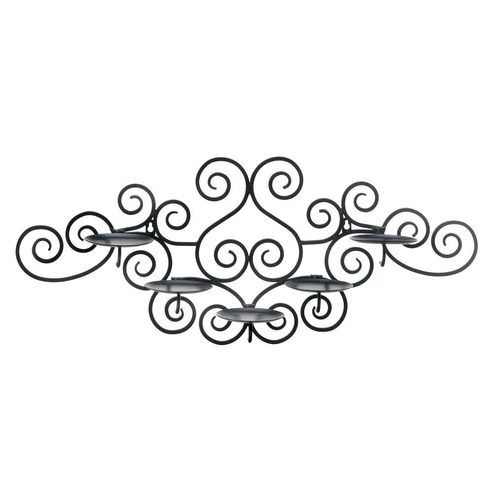 Articles With Metal Wall Art Candle Holders Tag: Metal Wall Candle Throughout Swirl Metal Wall Art (Image 2 of 20)
