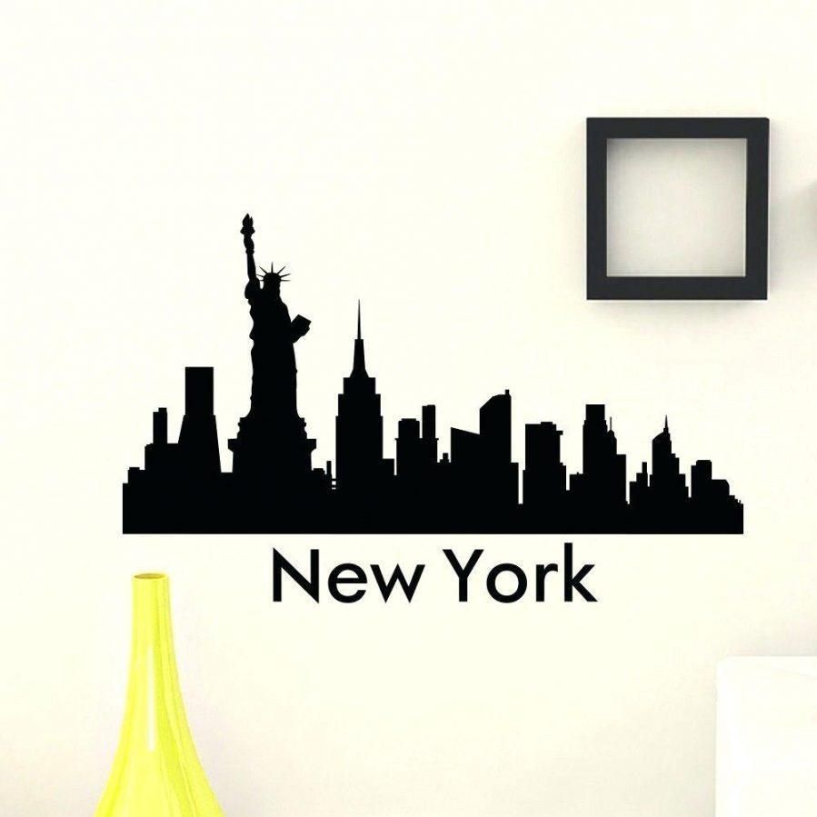 New York Nyc Skyline City Single Canvas Wall Art Picture: 20 Best Ideas Metal Wall Art New York City Skyline