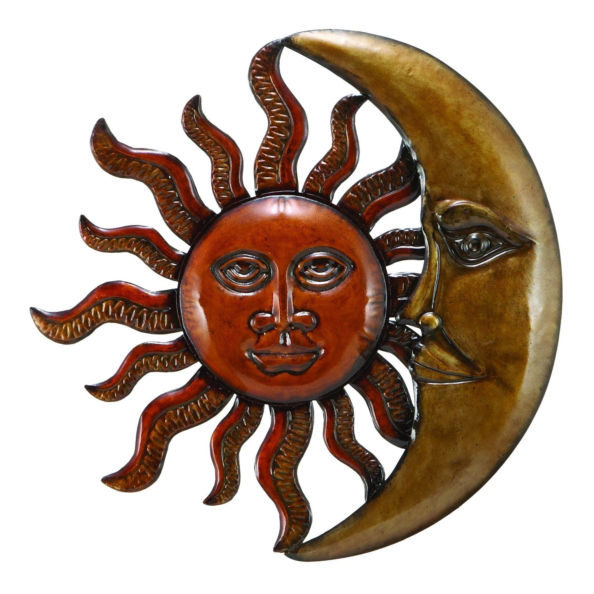 Articles With Outdoor Metal Sun Wall Art Decor Tag: Metal Outdoor With Regard To Sun And Moon Metal Wall Art (Image 6 of 20)