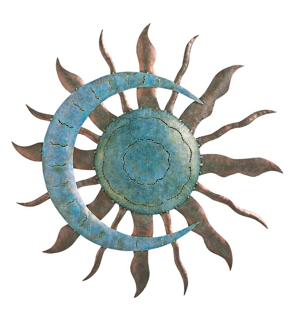Articles With Outdoor Metal Wall Art Sun And Moon Tag: Outdoor Inside Outside Metal Wall Art (Image 7 of 20)