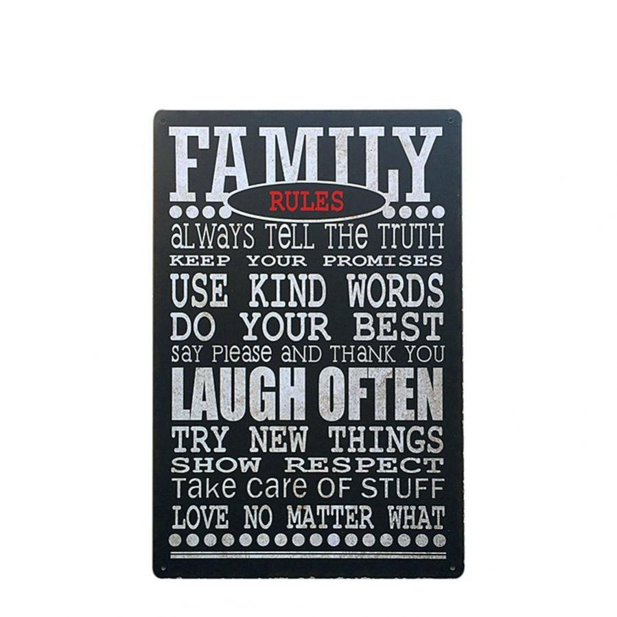 Articles With Personalized Family Rules Wall Art Canvas Tag Within Family Rules Canvas Wall Art (Image 6 of 20)