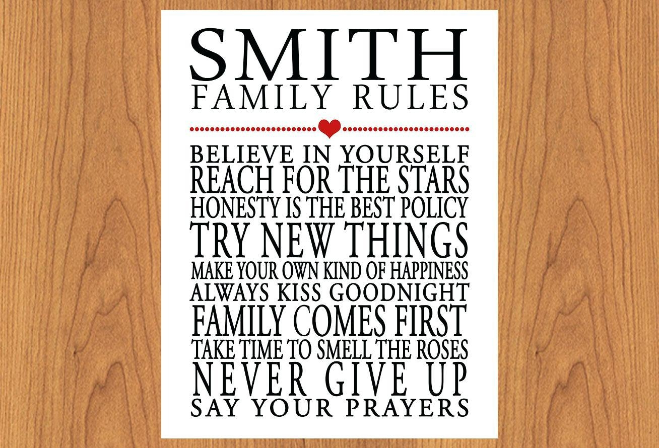 Articles With Personalized Family Rules Wood Wall Art Tag In Personalized Family Rules Wall Art (Image 5 of 20)