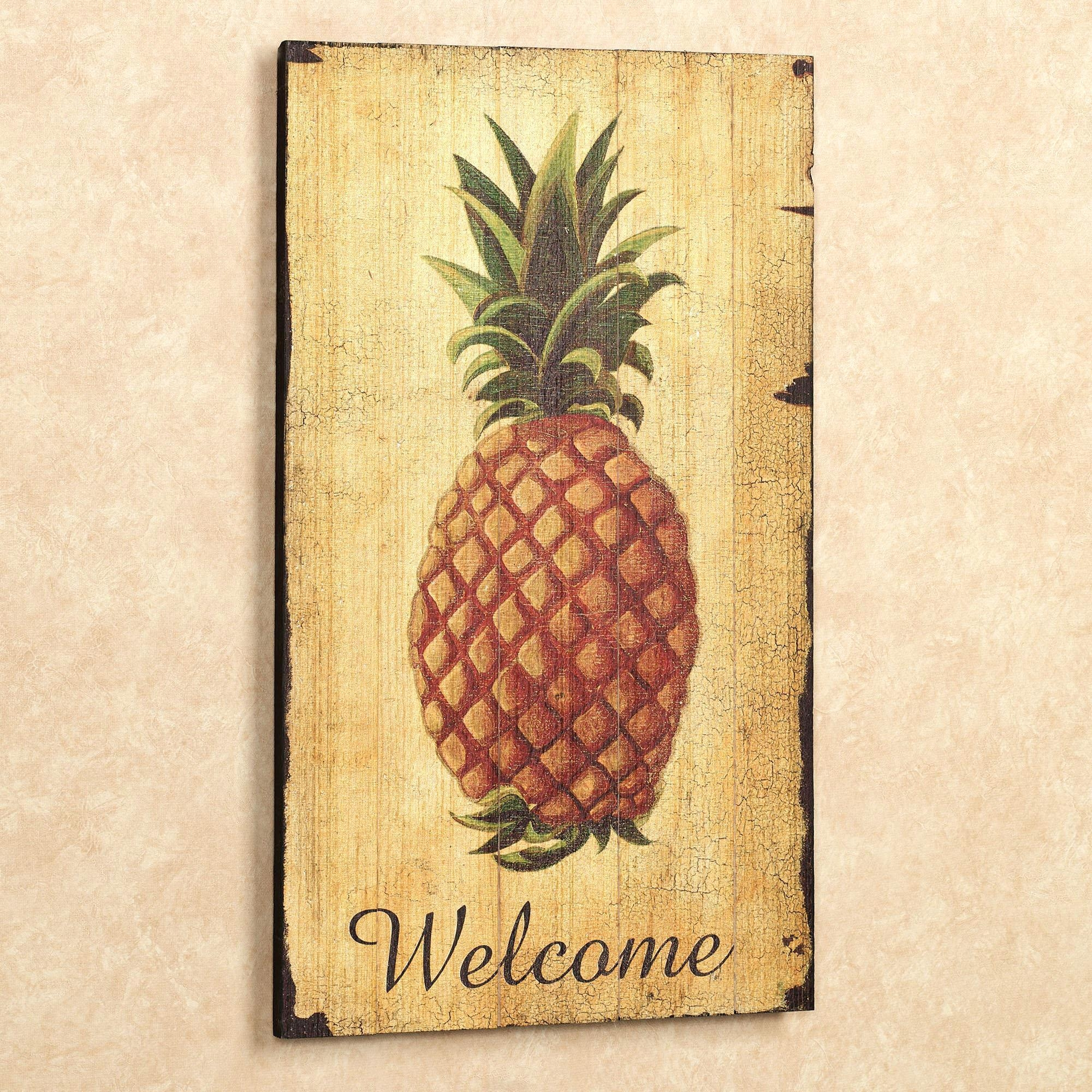 Articles With Pineapple Wall Art Wood Tag: Pineapple Wall Art (Image 6 of 20)