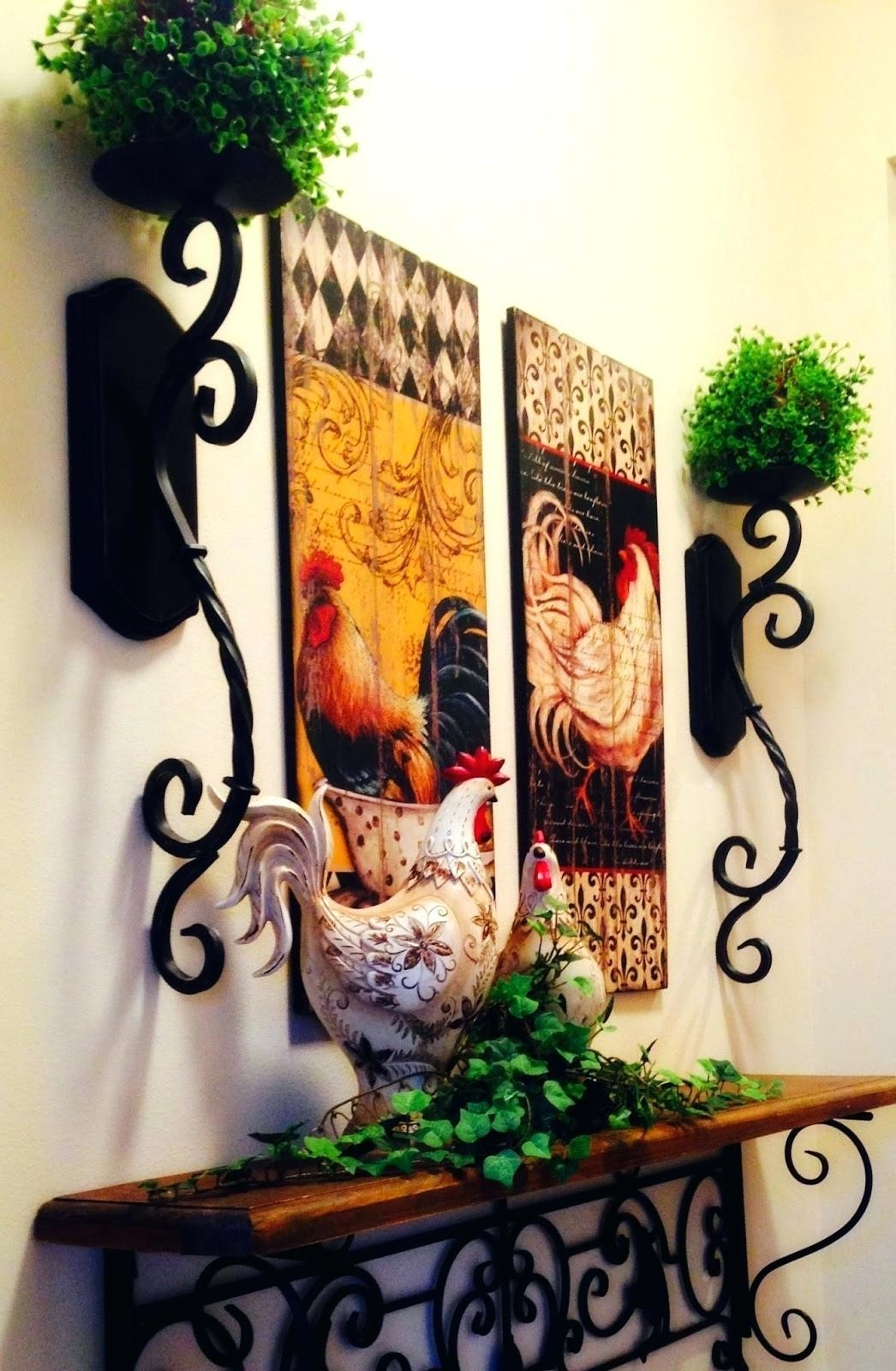 Articles With Rooster Wall Art Decorations Tag: Rooster Wall Art With Regard To Metal Rooster Wall Art (View 14 of 20)