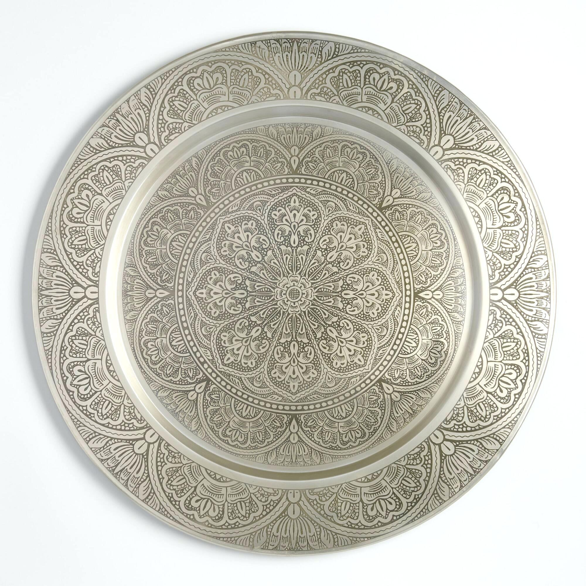 Articles With White Metal Medallion Wall Art Tag: Medallion Wall Throughout Medallion Tiles Wall Art (Image 2 of 20)