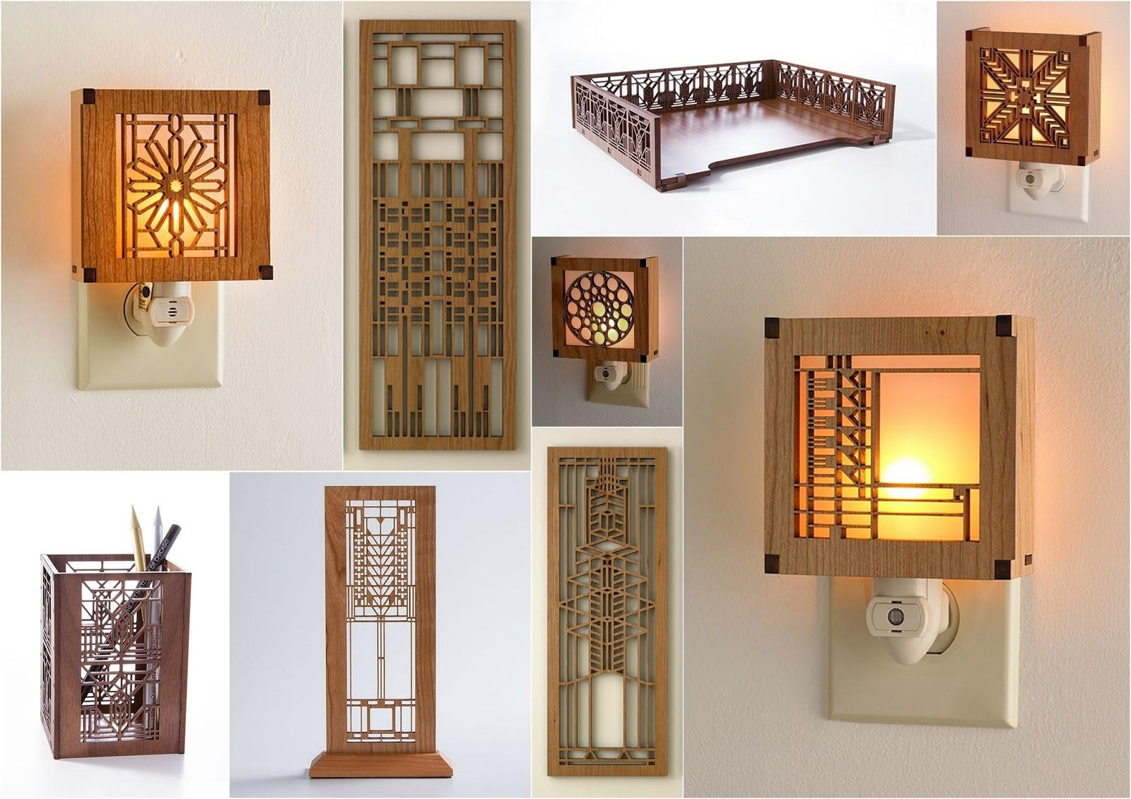 Artifacts: How It's Made : Laser Cut Frank Lloyd Wright® Designs Regarding Frank Lloyd Wright Wall Art (Photo 6 of 20)