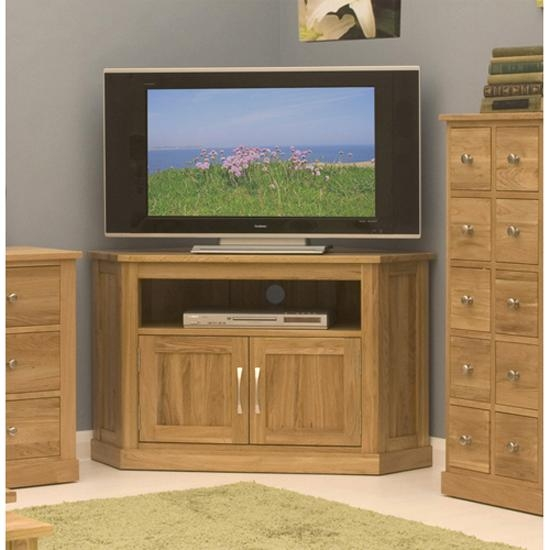 Artisan Corner Television Cabinet In Oak 8876 Furniture In With Most Popular Wooden Corner Tv Cabinets (Image 3 of 20)