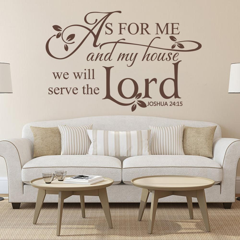 As For Me And My House We Will Serve The Lord Religious Wall Decal Pertaining To As For Me And My House Vinyl Wall Art (Image 8 of 20)