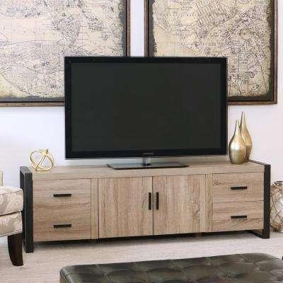 Ash Grey – Tv Stands – Living Room Furniture – The Home Depot In Most Recent Grey Tv Stands (Image 4 of 20)