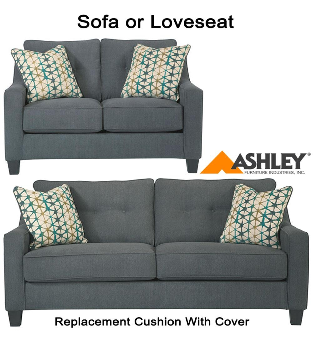 Ashley® Shayla Replacement Cushion Cover, 6080438 Sofa Or 6080435 Love With Sofa Cushions (Image 3 of 21)
