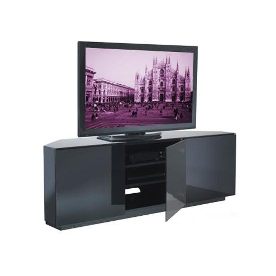 Astonishing Examples Of High Quality Corner Tv Stands For A Intended For Most Up To Date Shiny Black Tv Stands (Image 4 of 20)