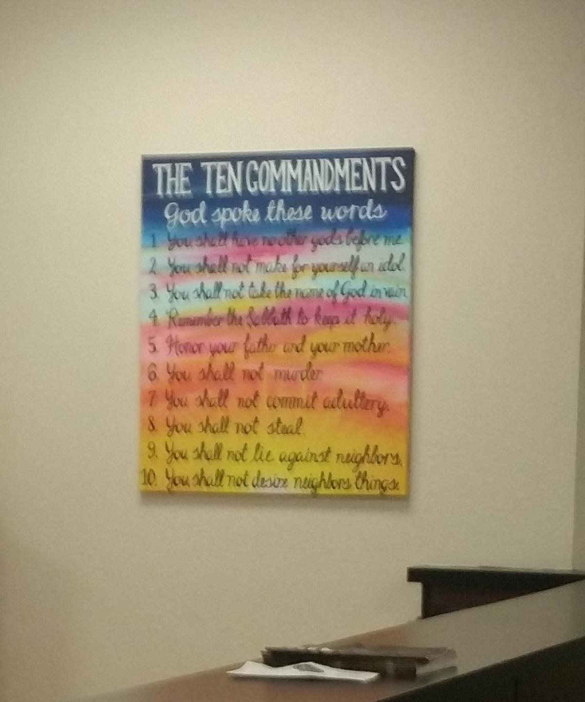 Atheists Want Ten Commandments Painting Removed From Kentucky Within 10 Commandments Wall Art (Image 8 of 20)