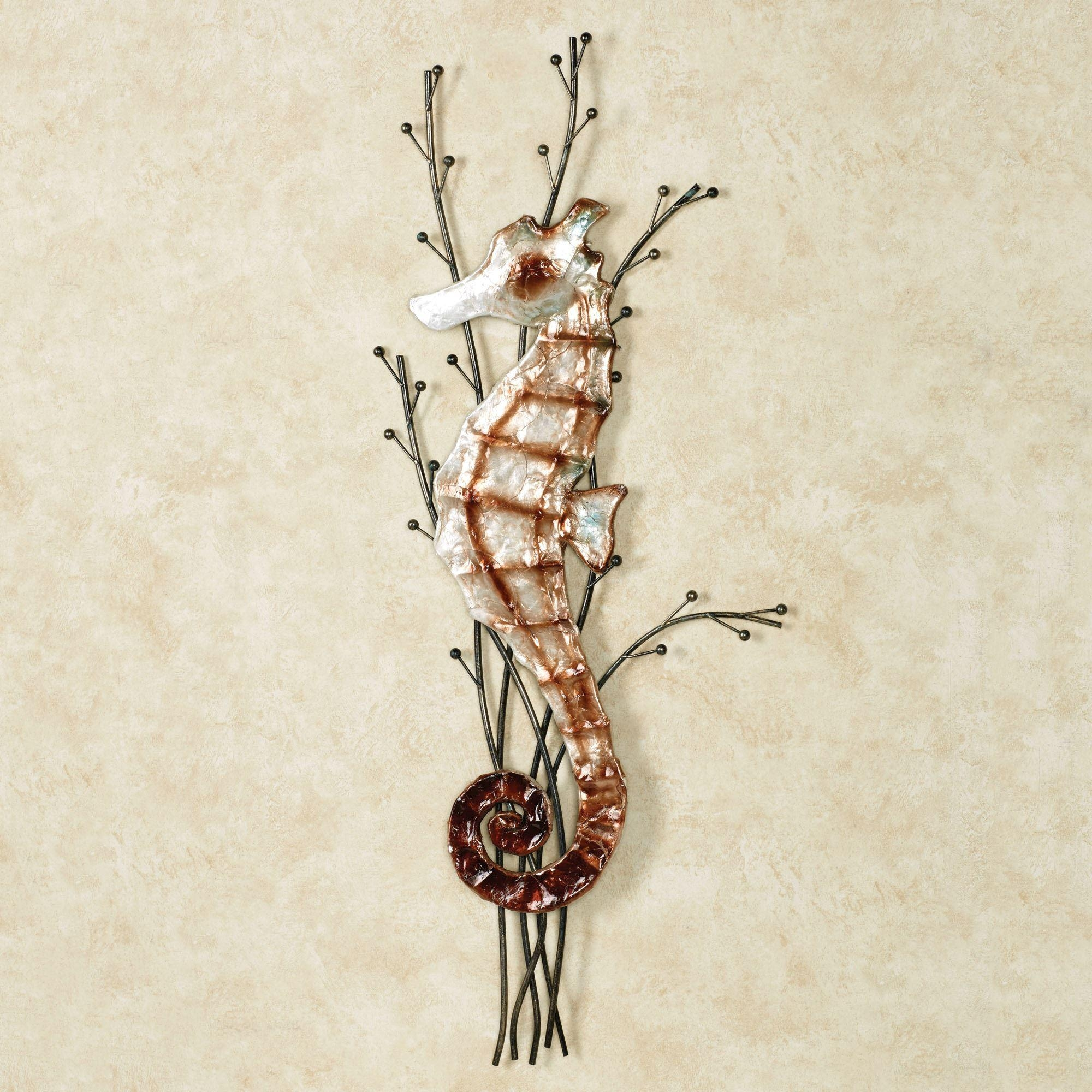Atlantic Seahorse Metal Wall Art For Touch Of Class Metal Wall Art (View 11 of 20)