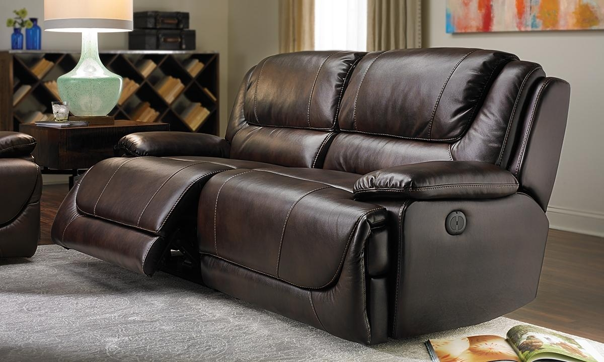 Atlas Power Reclining Leather Gel Sofa | Haynes Furniture With Leather Sofas (View 2 of 21)