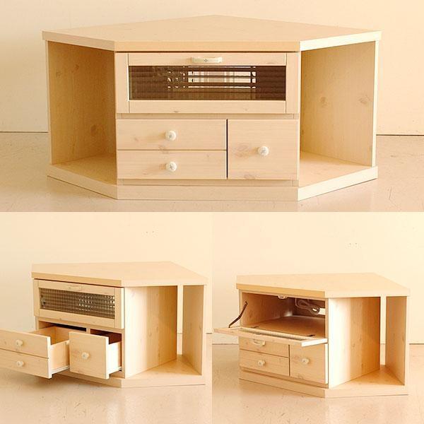 Atom Style | Rakuten Global Market: Cute Tv Stand Corner Board Regarding Current Solid Wood Corner Tv Cabinets (Image 2 of 20)