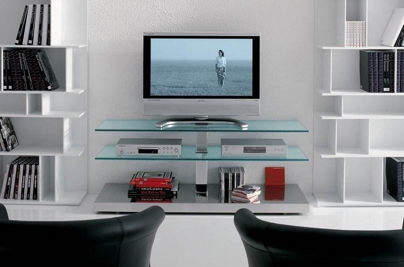 Attractive Interior Designs With Glass Tv Stands For Flat Screens In 2018 Wall Mounted Tv Stands For Flat Screens (Image 1 of 20)