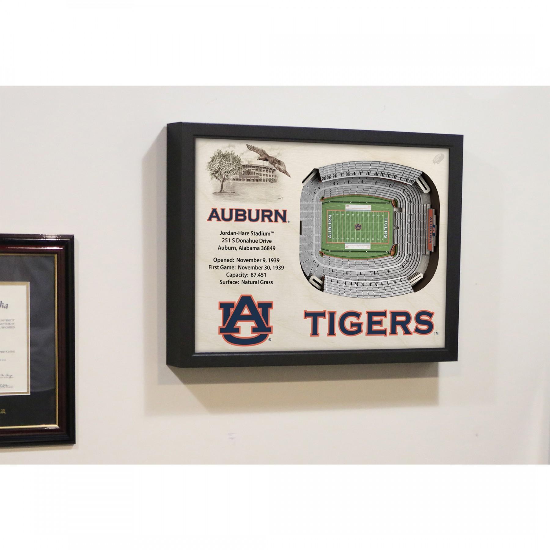 Auburn Tigers Stadiumview Wall Art – Jordan Hare Stadium 3 D In Auburn Wall Art (Image 6 of 20)