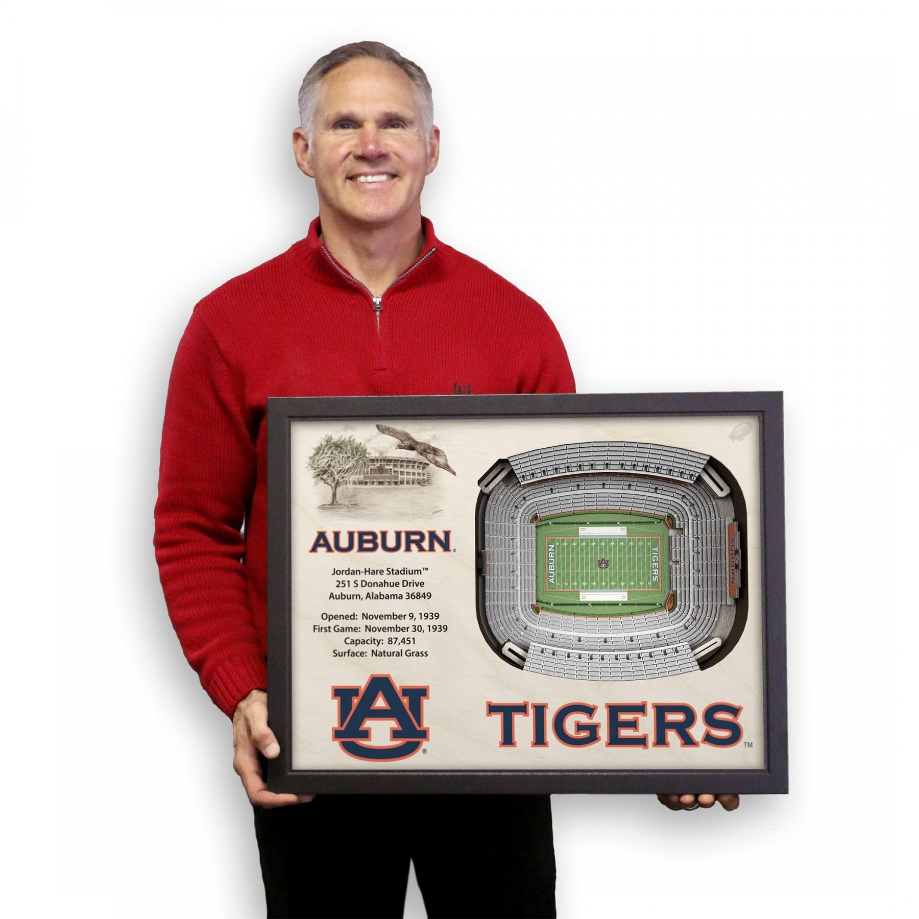 Auburn Tigers Stadiumview Wall Art – Jordan Hare Stadium 3 D With Auburn Wall Art (View 11 of 20)