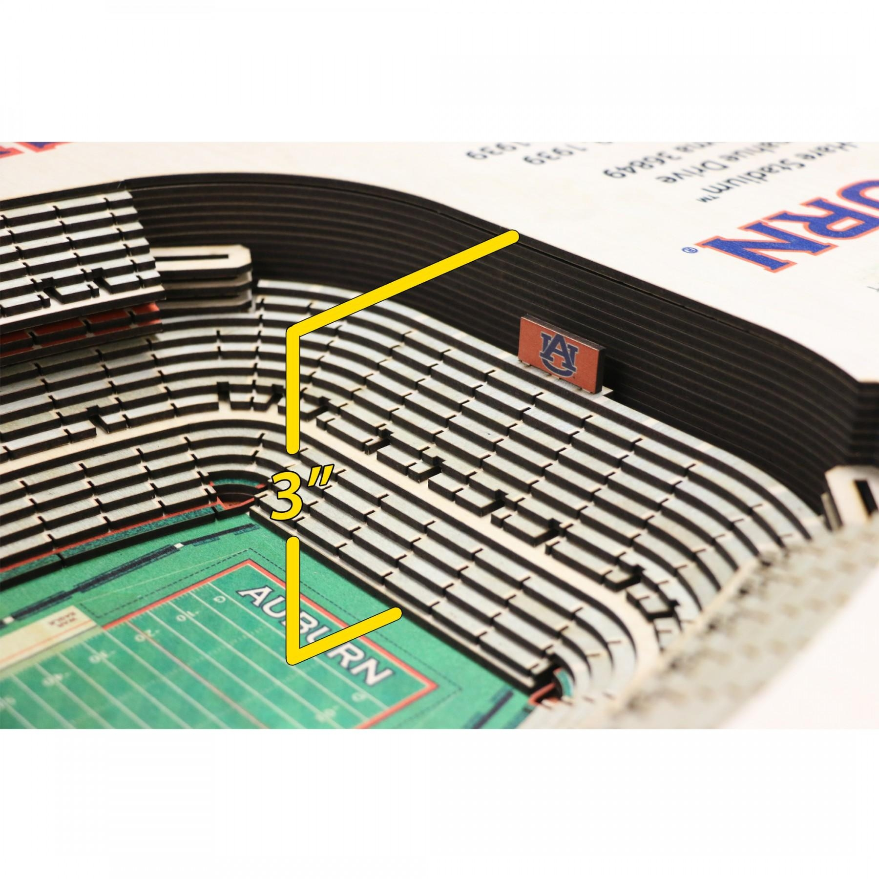 Auburn Tigers Stadiumview Wall Art – Jordan Hare Stadium 3 D With Regard To Auburn Wall Art (Image 10 of 20)