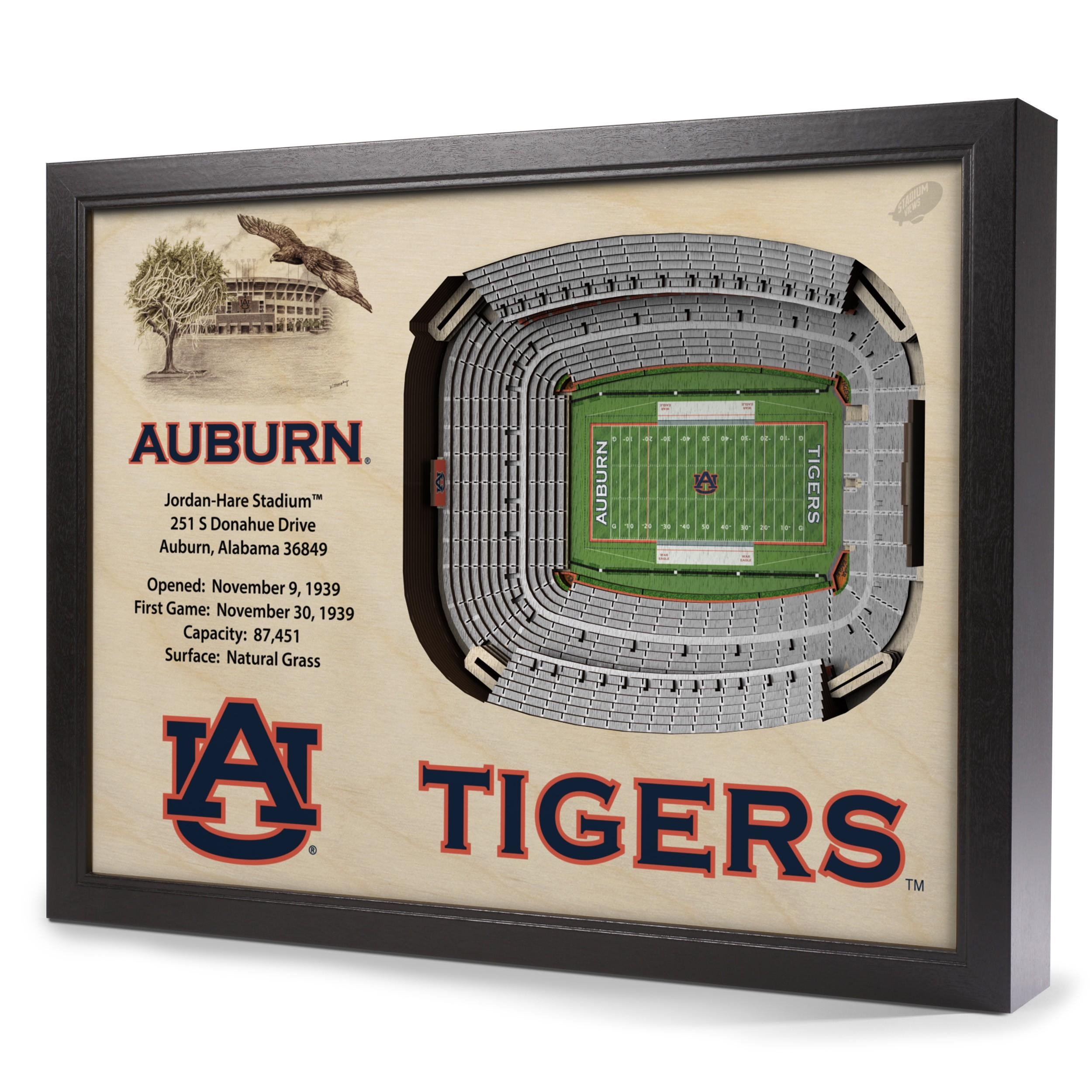 Auburn Tigers Stadiumview Wall Art – Jordan Hare Stadium 3 D With Regard To Auburn Wall Art (View 5 of 20)