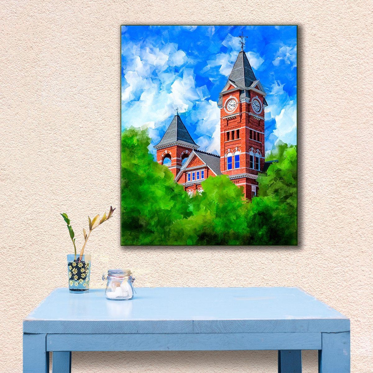 Auburn University – Classic Samford Hall Art Print For Auburn Wall Art (Image 12 of 20)