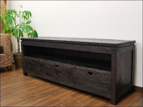 Auc Mamoqq | Rakuten Global Market: Teak Solid Wood アンティーク With Regard To Latest Solid Oak Tv Cabinets (View 14 of 20)