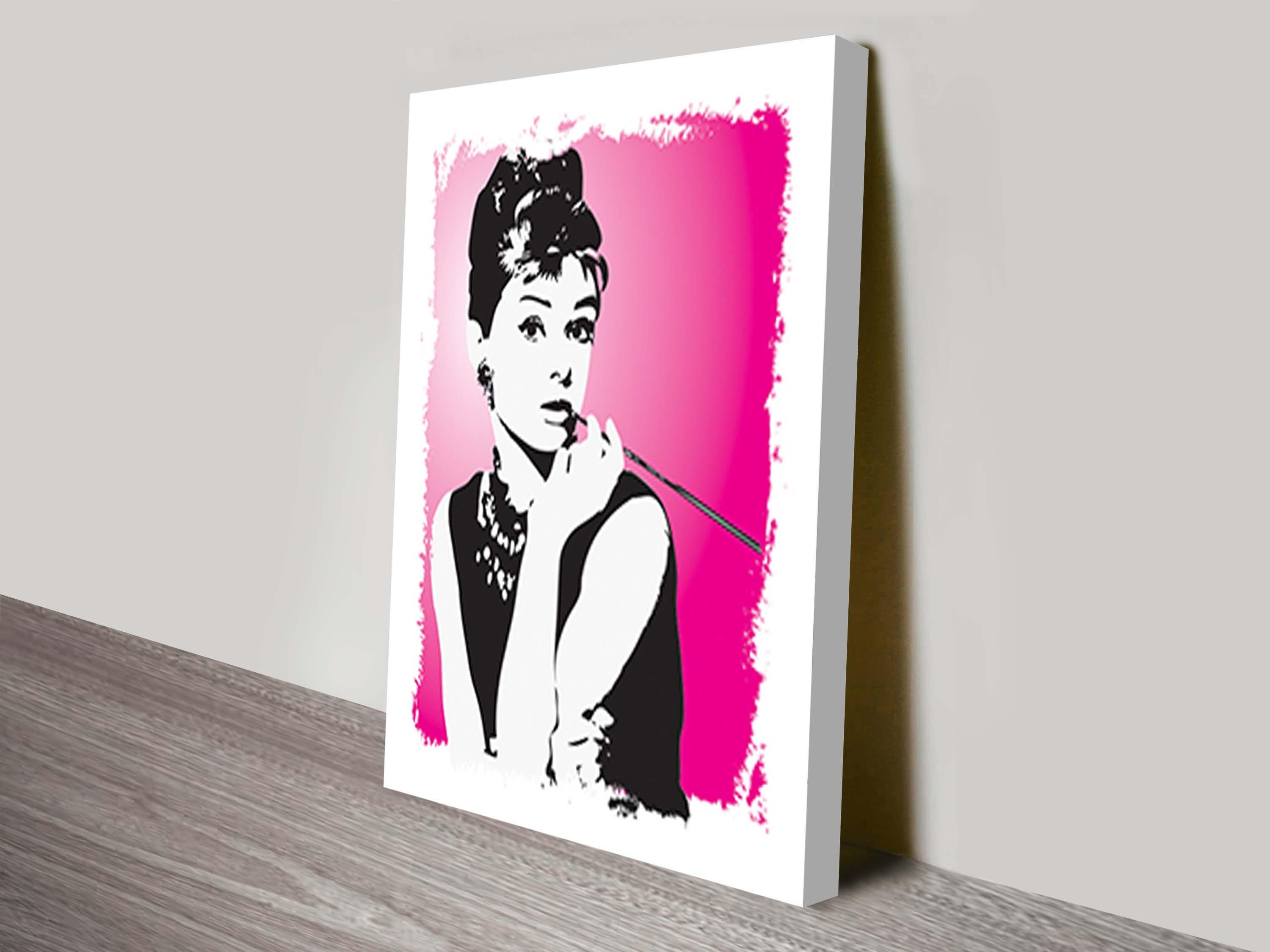 Audrey Hepburn Pop Art Canvas Print Brisbane Intended For Glamorous Audrey Hepburn Wall Art (View 10 of 20)