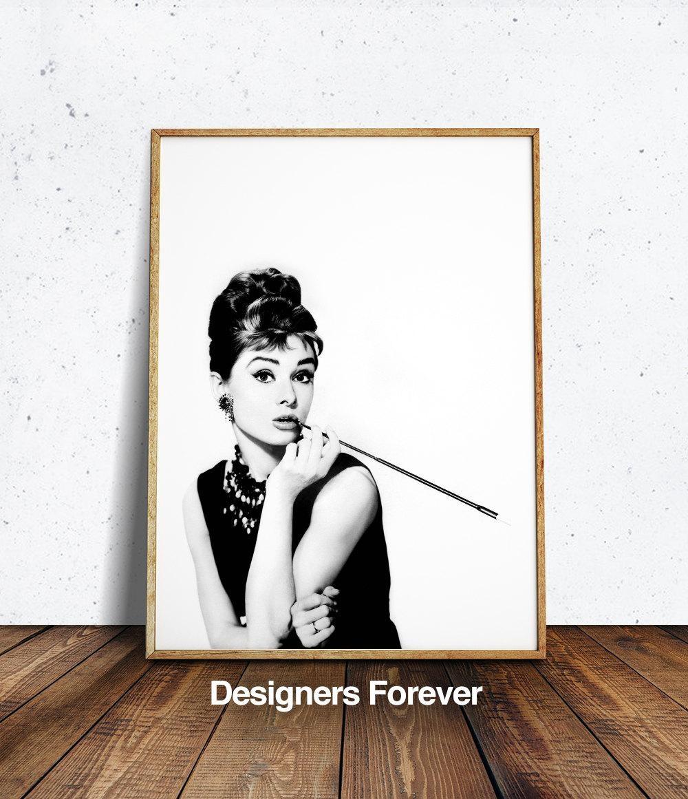 Audrey Hepburn Wall Art Audrey Hepburn Print Audrey Hepburn In Glamorous Audrey Hepburn Wall Art (View 3 of 20)