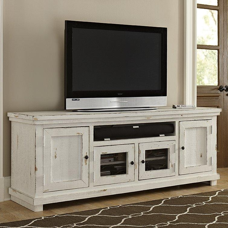 "August Grove Willow 74"" Tv Stand & Reviews 