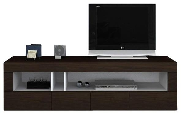 Aura Dark Brown Tv Etnertainment Unit – Modern – Entertainment Pertaining To Most Current Dark Tv Stands (View 3 of 20)