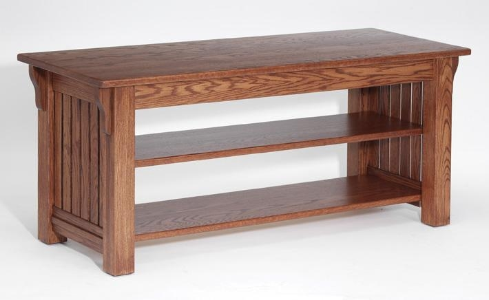 Authentic Mission Style Solid Oak Tv Stand – 51″ – The Oak Regarding Recent Hardwood Tv Stands (Image 4 of 20)