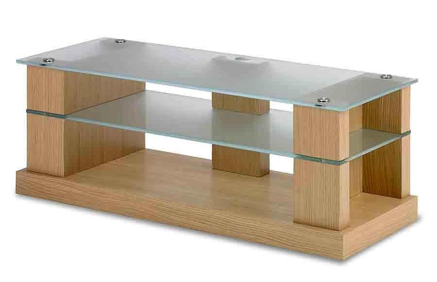 Av Tv Stand, Audiovisual Furniture Blok Strata 4000 With 2018 Glass And Oak Tv Stands (Image 8 of 20)
