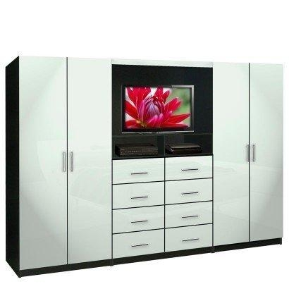 Aventa Tv Wall Unit For Bedrooms – Bedroom Wall Unit 8 Drawer 4 Pertaining To Latest Tv Drawer Units (Image 3 of 20)