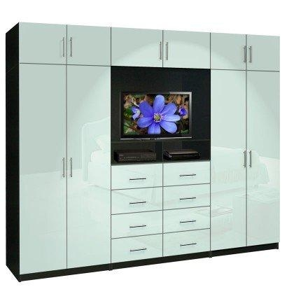 Aventa Tv Wall Unit X Tall – 10 Door Wall Unit For Bedrooms Regarding Most Recent Tv Drawer Units (Image 4 of 20)