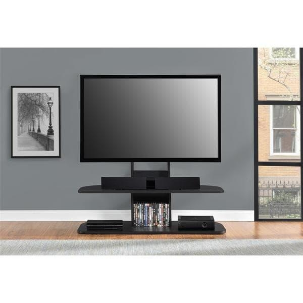 Avenue Greene Crossfield 65 Inch Black Tv Stand With Mount – Free For Recent 84 Inch Tv Stand (Photo 19 of 20)