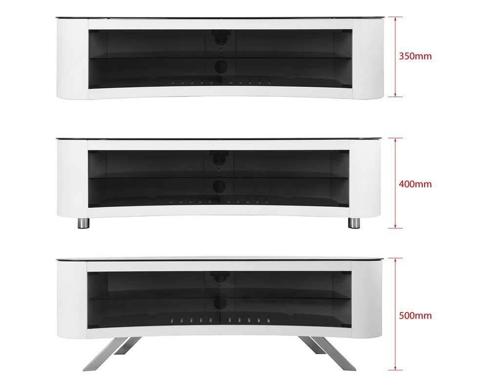 "Avf Affinity Bay 1500 Curved Tv Stand For Tvs Up To 70"" White 