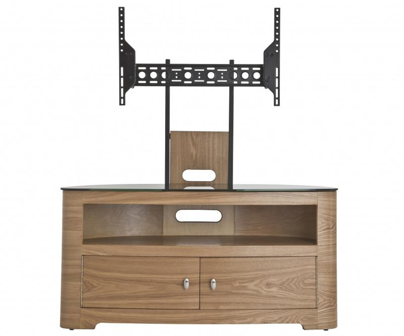 Avf Blenheim Oak Tv Stand With Mount For Up To 55 Throughout Recent 100Cm Tv Stands (Image 1 of 20)