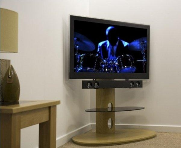 Avf Chepstow Oak Cantilever Tv Stand For Most Up To Date Tv Stand Cantilever (Image 4 of 20)