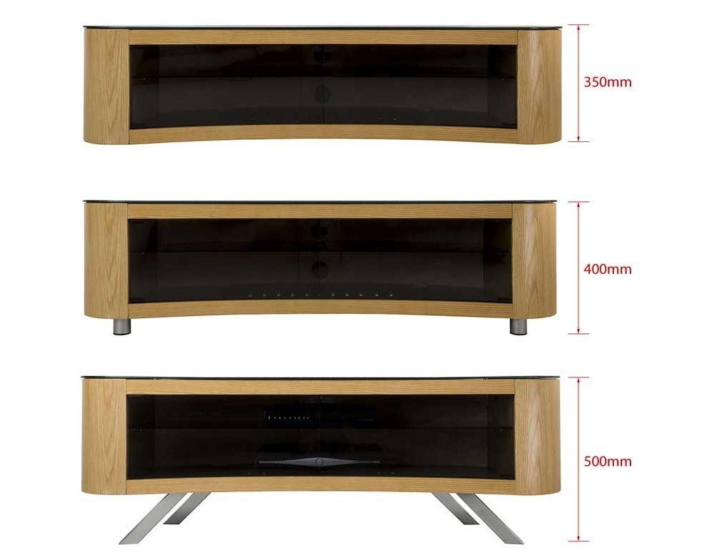 "Avf Curved Bay Tv Stand Round Unit For 42"" To 70"" Led Curve Oled Inside Most Recently Released Curve Tv Stands (View 3 of 20)"