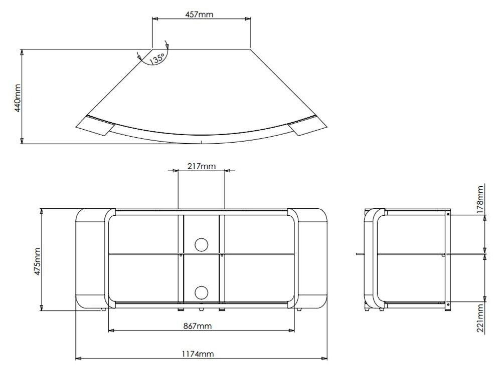 Avf Fs1174Cob Como Black Tv Stand Inside Most Recently Released Como Tv Stands (View 4 of 20)