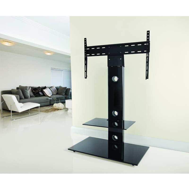 Avf Lesina 32 To 55 Inch Tv Stand With Attached Mount Black Intended For Best And Newest Avf Tv Stands (Image 9 of 20)