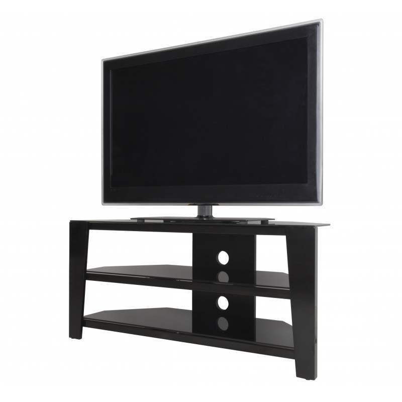 Avf Vico 55 Inch Corner Tv Stand Glossy Black Fs1050Vib A Pertaining To Most Current Corner Tv Stands For 55 Inch Tv (Image 4 of 20)