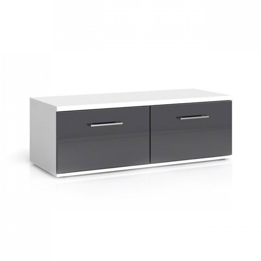 Avila 2 Drawers Tv Stand For Most Recent Black Tv Cabinets With Drawers (Image 6 of 20)
