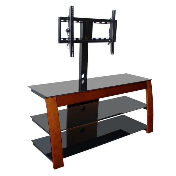 Avista Nexus Espresso Tv Stand With Rear Swivel/ Tilt Mount For Up Intended For Newest Tv Stands Swivel Mount (Image 1 of 20)