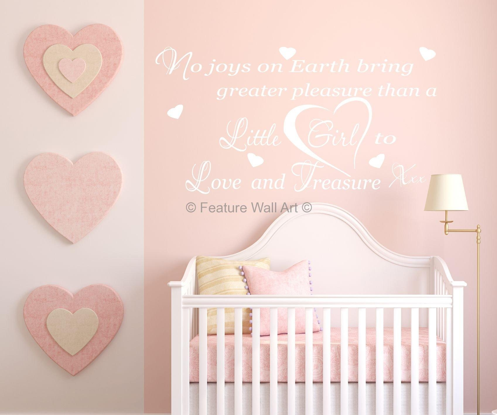 Awesome Girl Nursery Wall Decor Ideas Zoom Wall Decor Nursery Girl Regarding Wall Art For Little Girl Room (View 8 of 20)