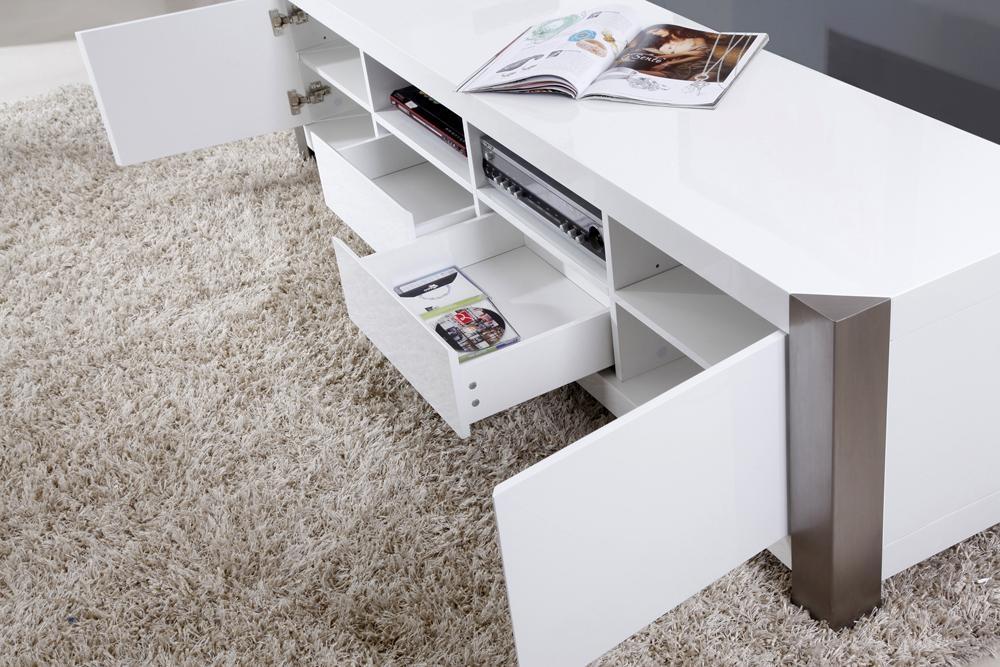 B Modern Composer Tv Stand | White High Gloss, B Modern – Modern For Recent B Modern Tv Stands (Image 4 of 20)